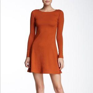 American apparel a-line burnt orange dress
